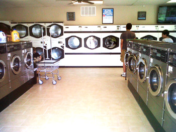laundromat after new laundry equipment